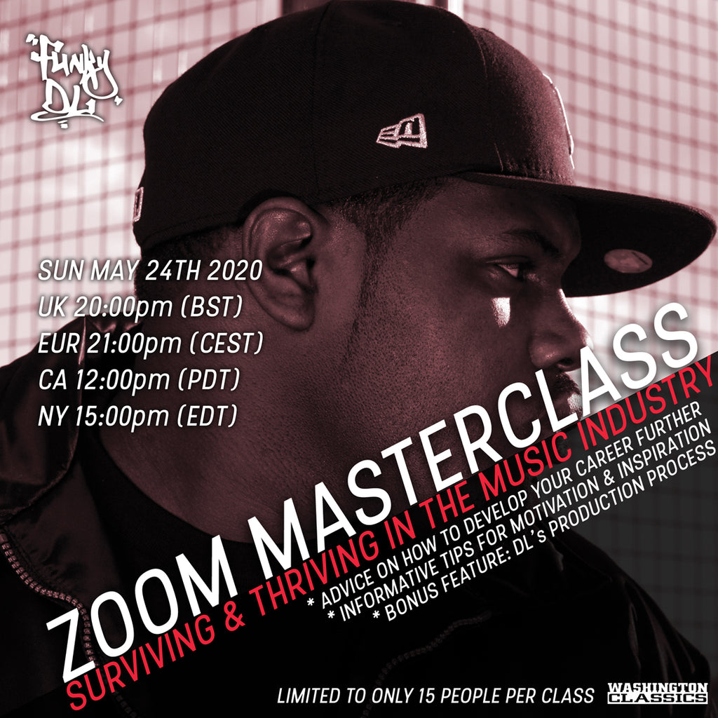 "Sun May 24th 2020 - Funky DL's ""Surviving & Thriving in the Music Industry"" - Masterclass - Ticket"