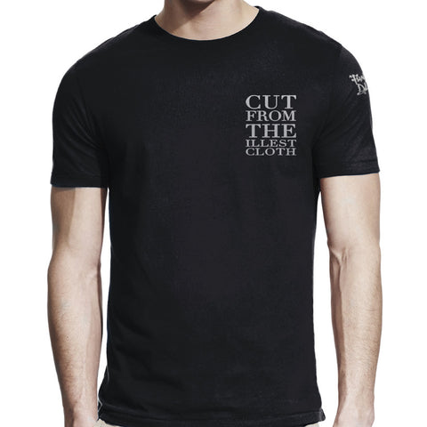 "//021// - Men's Black ""Cut From The Illest Cloth"" Logo T-Shirt"