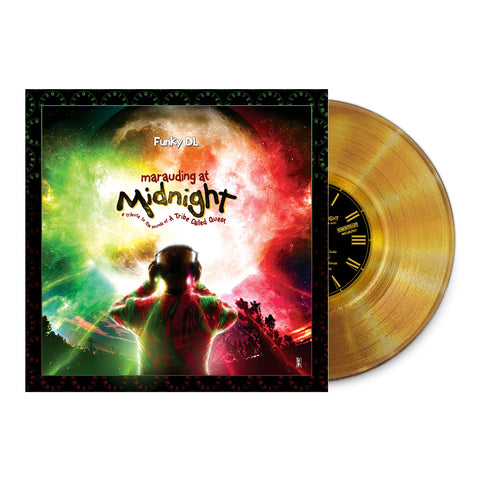 //045// - Marauding At Midnight: A Tribute To The Sounds Of A Tribe Called Quest - Funky DL - LIMITED EDITION GOLD COLOR VINYL ALBUM