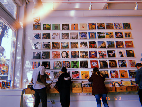 We still got our record wall