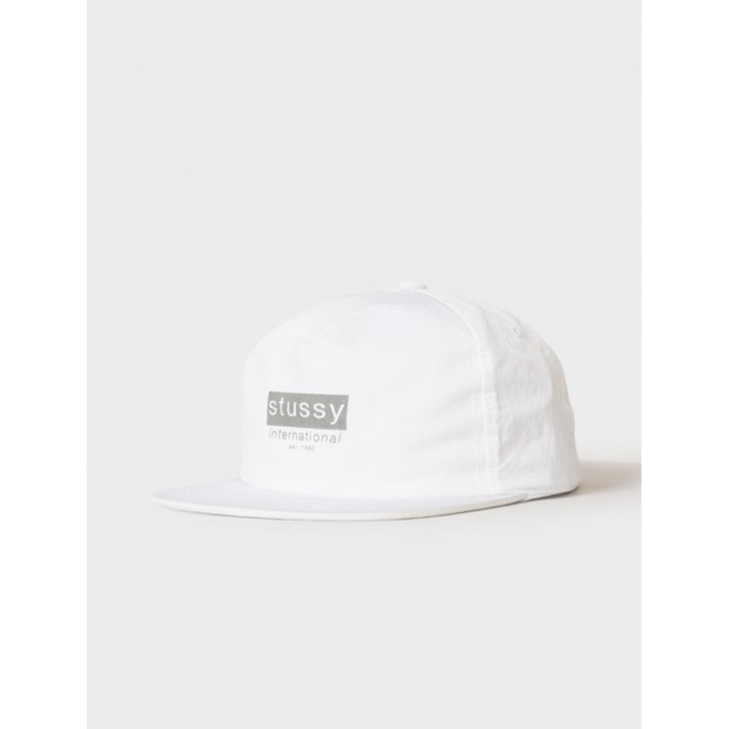 STUSSY REFLECTIVE TAPE CAP WHITE 131693