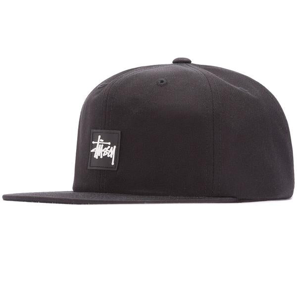 STUSSY STOCK RUBBER PATCH CAP BLACK 131786