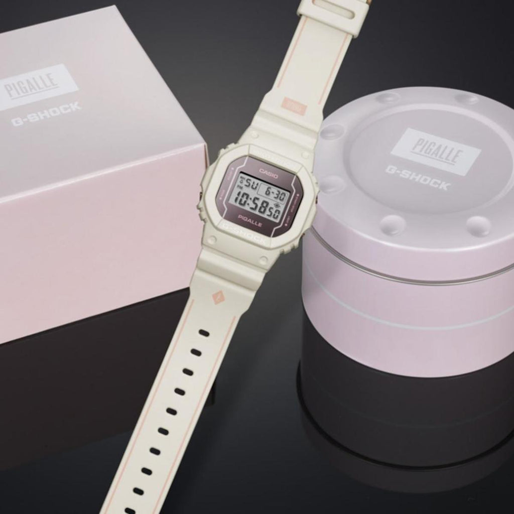 CASIO G-SHOCK X PIGALLE COLLABORATION LIMIED EDITION WHITE DW5600PGW-7