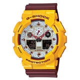 CASIO G-SHOCK GA-100CS-9A YELLOW/BURGUNDY