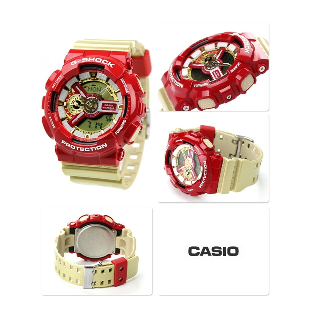 CASIO G-SHOCK GA-110CS-4A RED/GOLD
