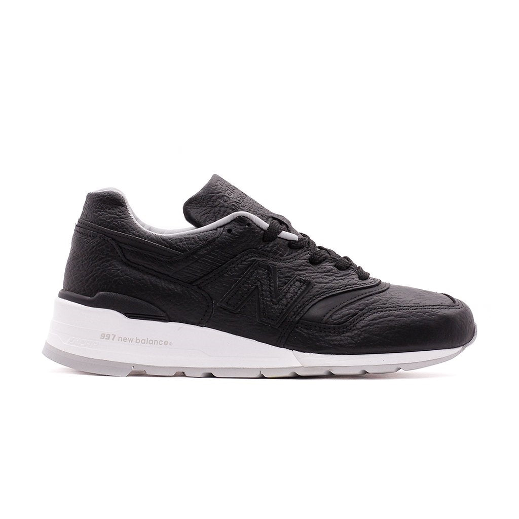 NEW BALANCE M997BSO BLACK WHITE BISON LEATHER MADE IN USA