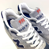 NEW BALANCE M998GNR ORIGINAL GREY BLUE RED MADE IN USA