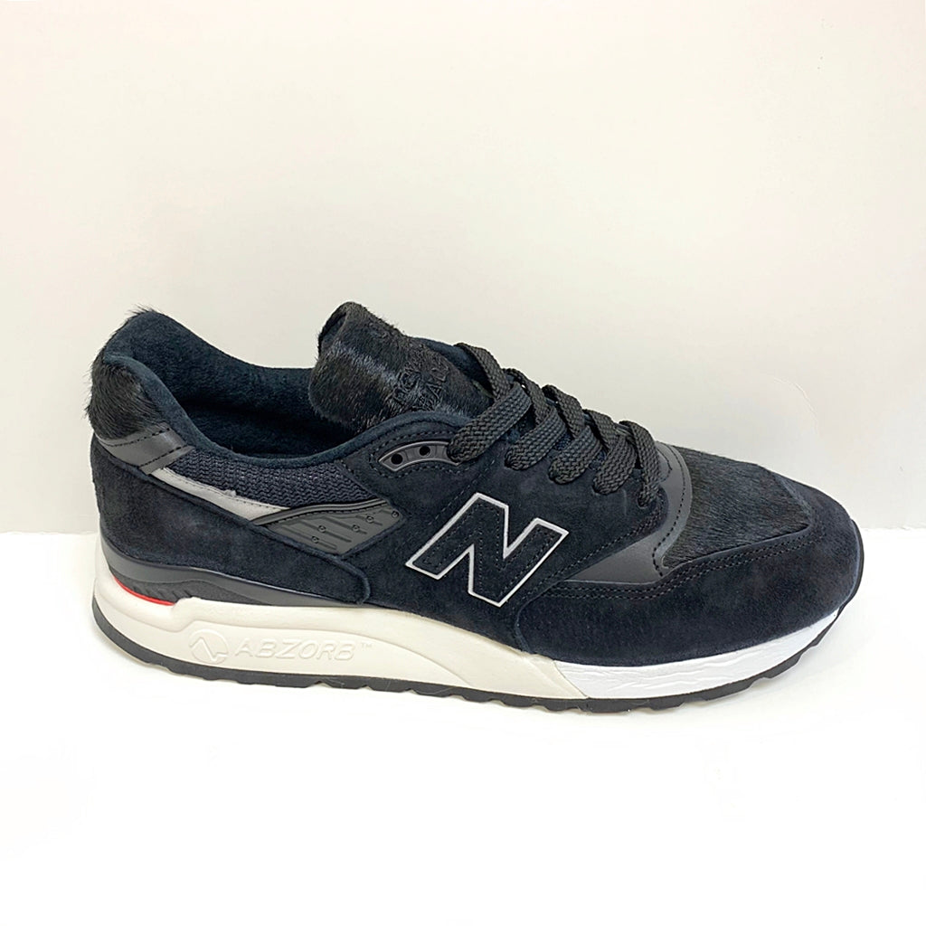 "NEW BALANCE M998TCB BLACK ""PONY HAIR"" MADE IN USA"