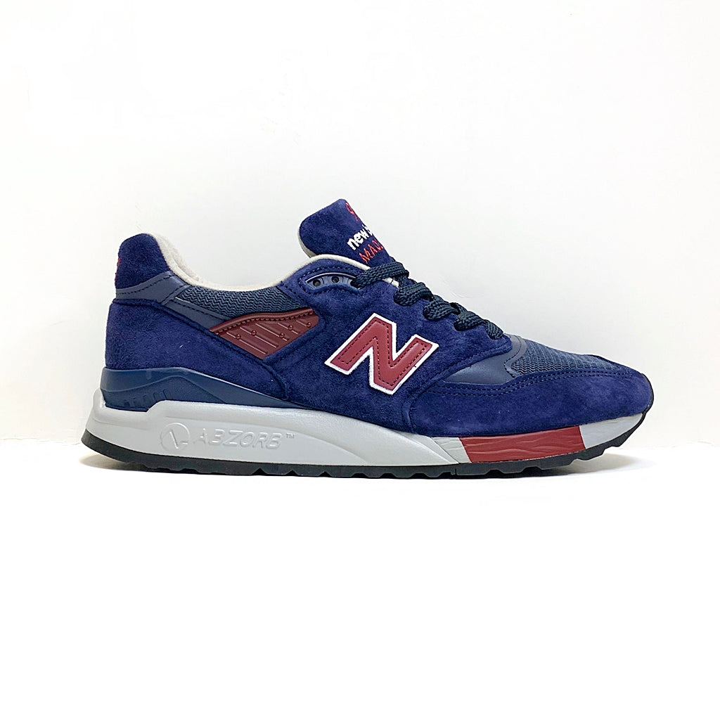 NEW BALANCE M998MB NAVY BURGUNDY MADE IN USA