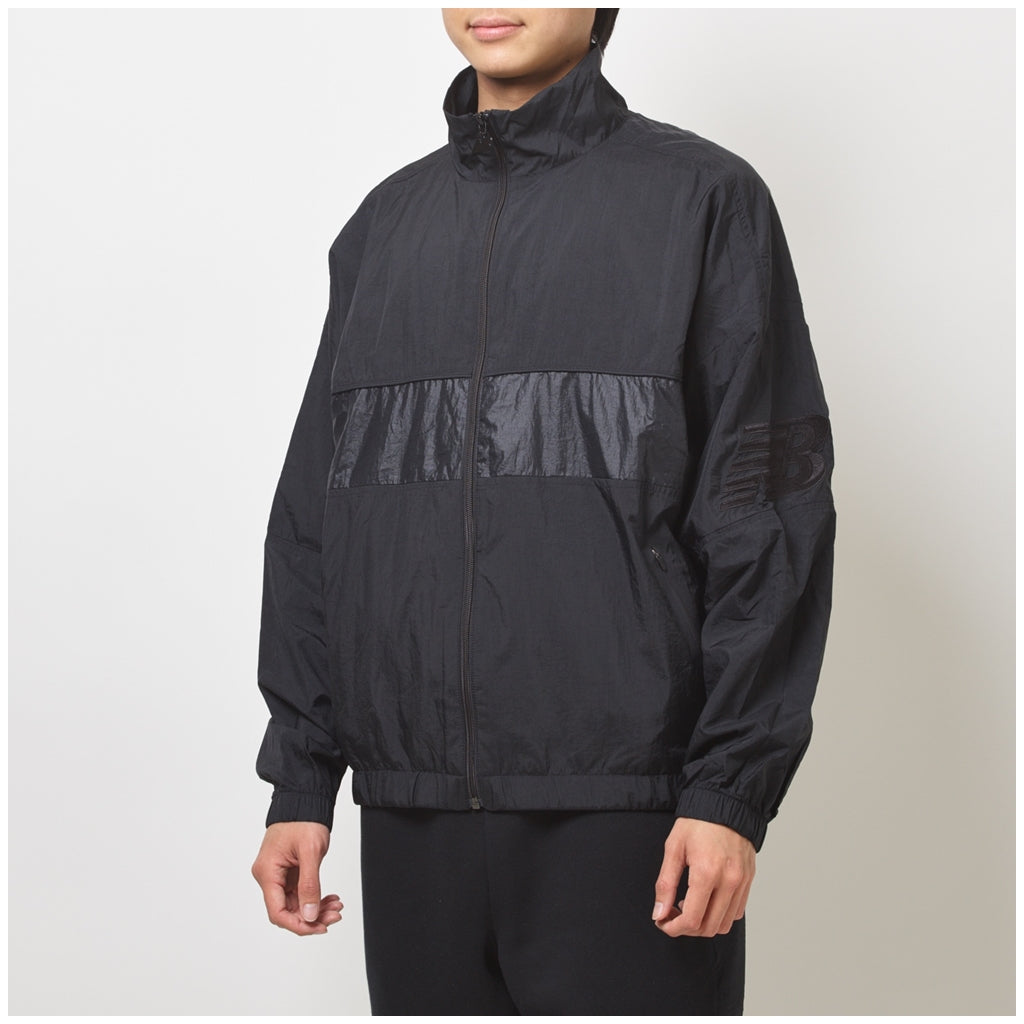 NEW BALANCE ATHLETICS SELECT WINDBREAKER BLACK MEN MJ93500-BK