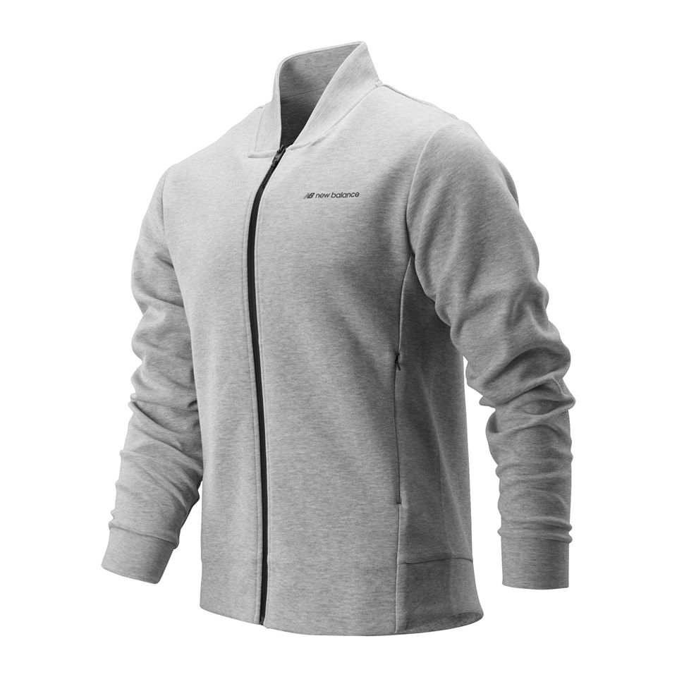 NEW BALANCE SPORT STYLE CORE JACKET ATHLETIC GREY MEN MJ93504-AG