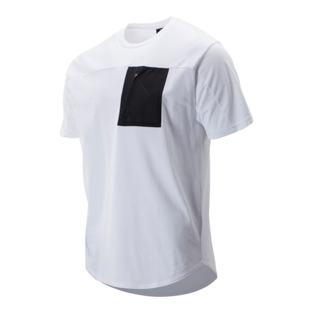 NEW BALANCE SPORT STYLE POCKET TEE WHITE MEN MT93535-WT