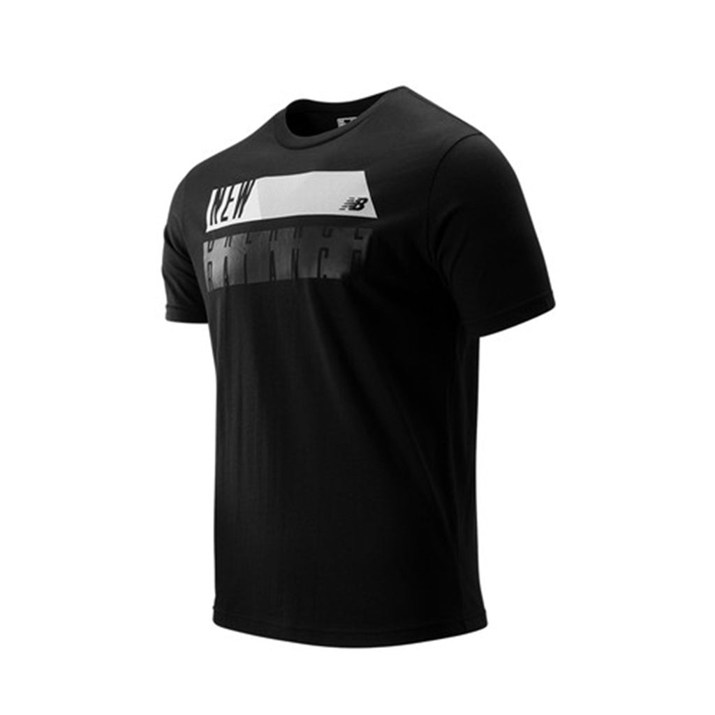 NEW BALANCE CORE BLOCK SHORT SLEEVE BLACK MEN MT93922-BK