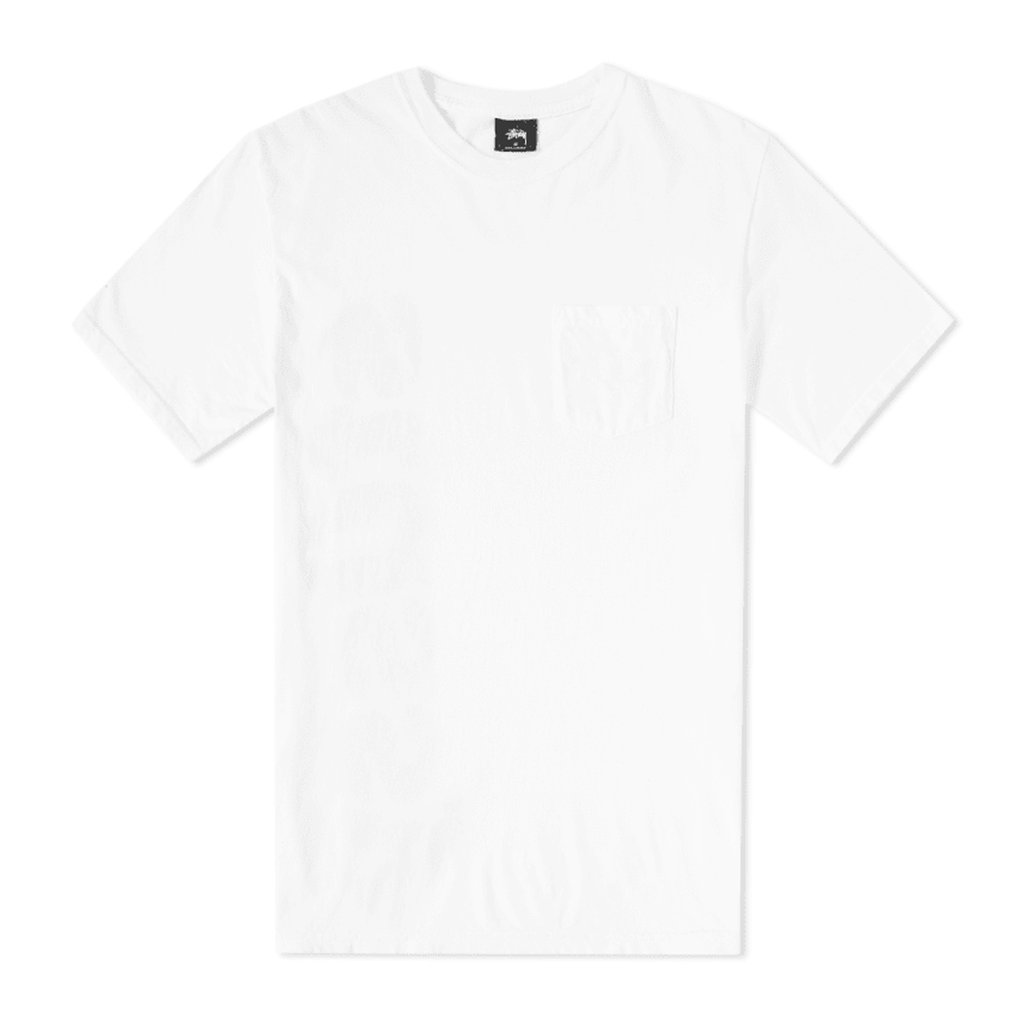 STUSSY C-THRU PIG DYED PKT TEE NATURAL 1944160