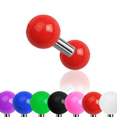7pcs Solid Color UV Ball Stud Tragus Rings