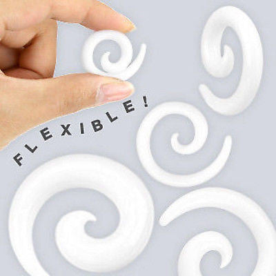 14pc White Silicone Spiral Tapers