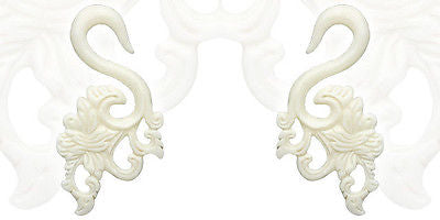 PAIR Organic Floral Bone Hanger Tapers Plugs