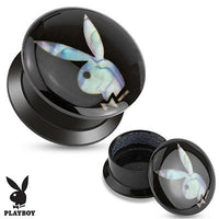 PAIR Officially Licensed Playboy Bunny Mother Of Pearl Inlay Screw Fit Stash Plugs