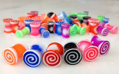 56pcs Hypnotic UV Acrylic Plugs 0g, 2g, 4g, 6g