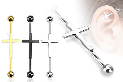 1pc Cross Industrial Barbell
