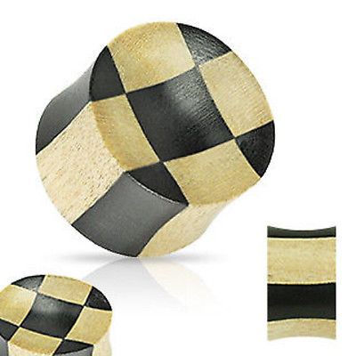 PAIR Organic Areng and Crocodile Wood Checker Plugs