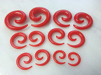 12pc Neon Spiral Taper Sets 00g, 0g, 2g, 4g, 6g, 8g