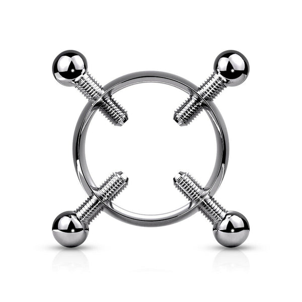 PAIR Non-Piercing Adjustable Nipple Clamps 316L Bondage Surgical Steel