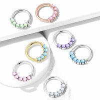 1pc Bendable 5 Illuminating Stone Hoop Septum Ring Cartilage Daith Helix Tragus