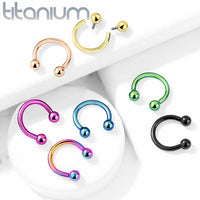 1pc Implant Grade Titanium Horseshoe Circular Barbell Septum Helix Ear Cartilage Eyebrow Ring