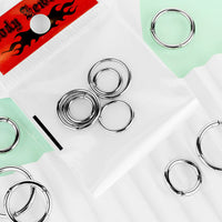 6pc Value Pack Hinged Segment Rings Cartilage Tragus Nipple Septum Nose Hoop