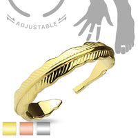 Tribal Feather Adjustable Mid Ring / Toe Ring