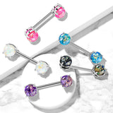PAIR Lava Glitter Nipple Rings Shields 316L Surgical Steel Barbells Body Jewelry