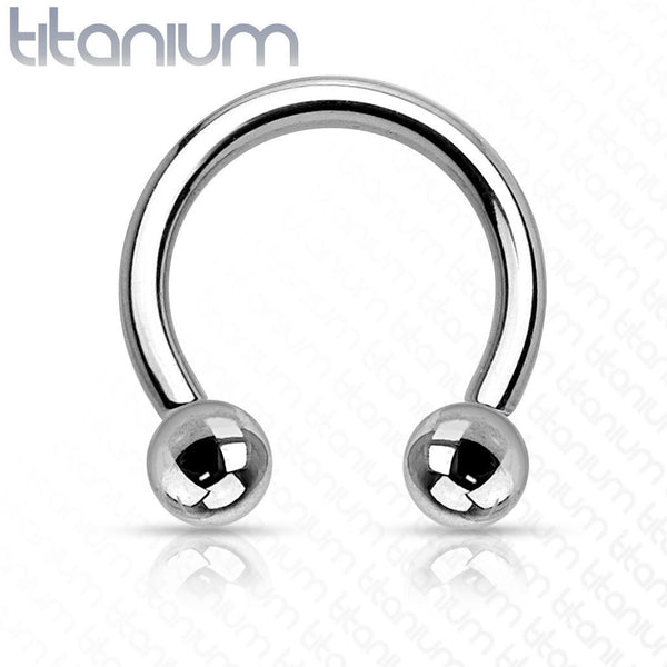1pc Internally Threaded Grade 23 Solid Titanium Horseshoe Circular Barbell
