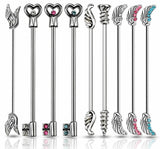 9pk Wings, Keys, Screw Design Industrial Bar Barbells