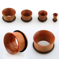 PAIR Sawo Wood Tunnels Single Flare Plugs Organic Earlets Gauges Body Jewelry