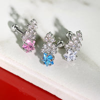 1pc CZ Clustered Shooting Star Tragus Helix Cartilage Ring