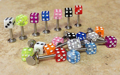 20pcs UV Dice Labrets Monroes
