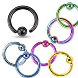 7 Pair Set Fixed Ball Captive Bead Rings