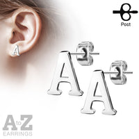 26pcs (13 Pair) Alphabet Initial Style 20g Earrings Starter Pack