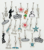 12pcs Hawaiian Mix Belly Rings navel naval