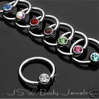16pcs Gem Captive Bead Rings CBR's