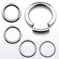 PAIR 316L Surgical Steel Segment Rings