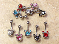 10pcs Mouse Gem Belly Rings Navel naval