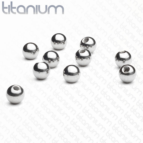 10pk Replacement Threaded Grade 23 Titanium Balls