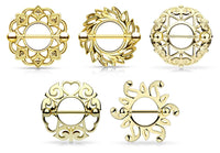 10pcs (5 pair) Tribal Shield Nipple Rings Shields