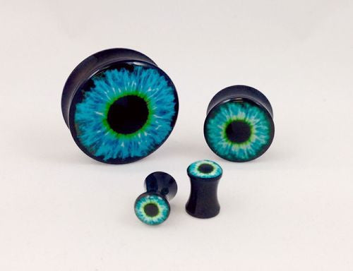 Logo Plugs Blue Eyeball - PAIR