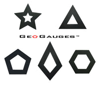 GeoGauges Brand Pentagon Shaped Silicone Tunnels