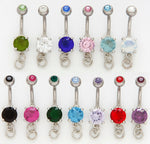 10pcs Add-A-Charm Prong Set Gem Belly Rings