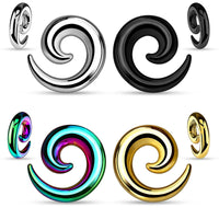 PAIR Seamless Hollow Light Weight Spiral Tapers Plugs