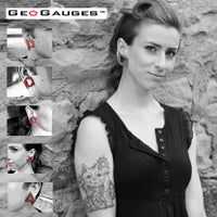 35 Pair Wholesale Lot of Black GeoGauges Brand Silicone Tunnels